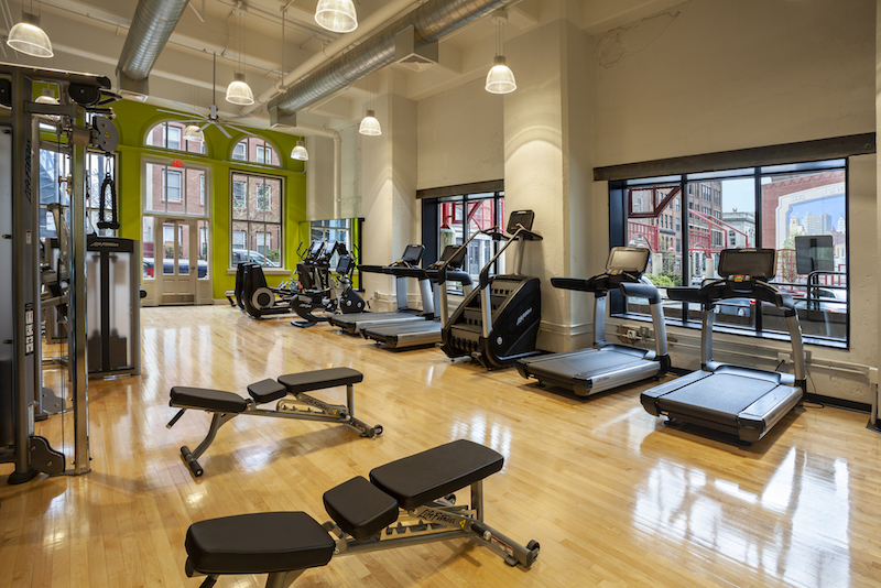 MetroFit, on-site fitness center for Reinhold Residential
