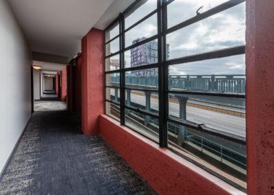 Chocolate Works apartments lobby hallway in Philadelphia