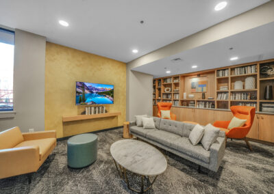 Chocolate Works resident lounge with TV